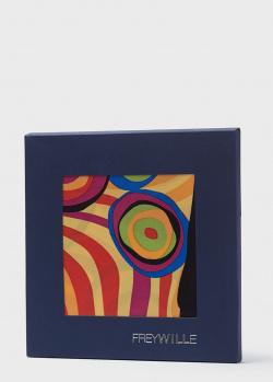 Шелковый яркий платок Freywille с рисунком, фото