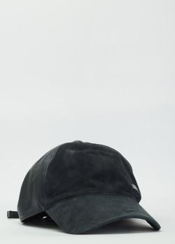 Кожаная кепка Paul&Shark с замшевыми вставками, фото