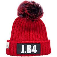 Красная женская шапка J.B4 Just Before с помпоном, фото