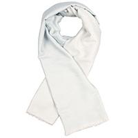 Кашемировый шарф Chadrin двухсторонний белый с голубым, фото