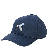 Синяя кепка Kenzo с вышитой буквой, фото
