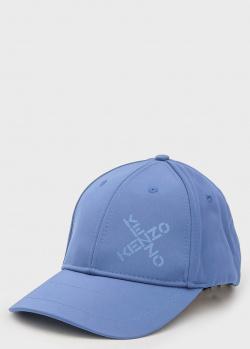 Голубая кепка Kenzo с логотипом, фото