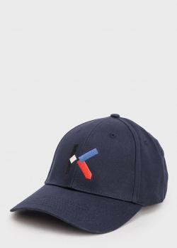 Темно-синяя кепка Kenzo с вышивкой-буквой, фото
