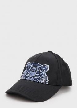 Черная кепка Kenzo с вышивкой в виде тигра, фото