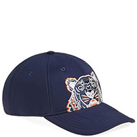 Синяя кепка Kenzo с вышивкой, фото