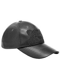 Черная кепка Kenzo из зернистой кожи, фото