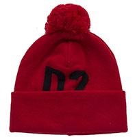 Красная шапка Dsquared2 с помпоном, фото