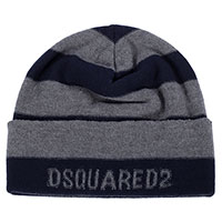 Шапка Dsquared2 из серой шерсти в полоску, фото