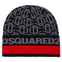 Серая шапка Dsquared2 с логотипом, фото
