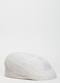 Белая кепка Lorena Antoniazzi с декором-звездой, фото