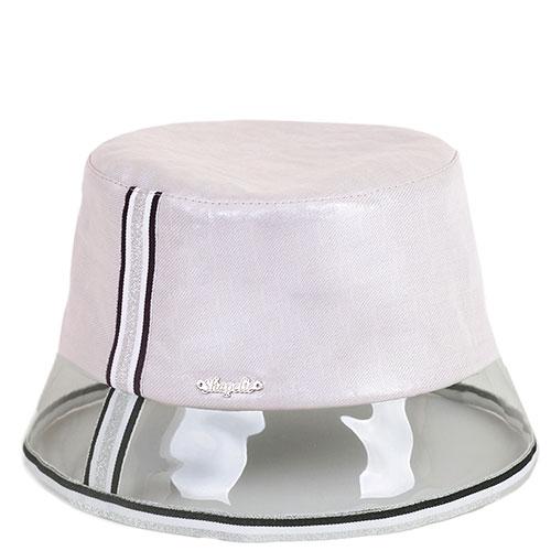 Розовая шляпа Shapelie с золотом и прозрачной тульей, фото