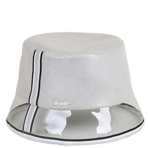 Шляпа Shapelie с прозрачной тульей и серебристой отделкой, фото