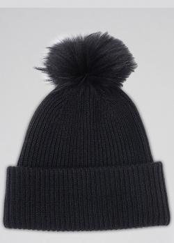 Черная шапка Max Mara Weekend с помпоном, фото