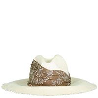 Белая шляпа Brunello Cucinelli с платком, фото