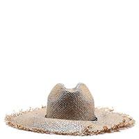 Соломенная шляпка Brunello Cucinelli в бежевом цвете, фото