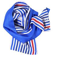 Шелковый шарф D.OLYA by Olga Dvoryanskaya синего цвета, фото
