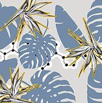 Шелковая косынка D.OLYA by Olga Dvoryanskaya с растительным принтом, фото