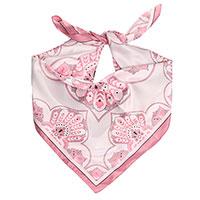 Платок Fattorseta с узором розового цвета, фото