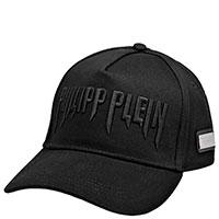 Черная кепка Philipp Plein с надписью по центру, фото