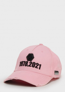 Розовая кепка Philipp Plein с вышивкой, фото