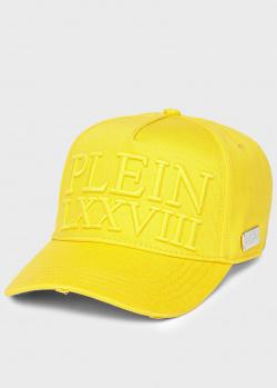 Желтая кепка Philipp Plein с потертостями, фото