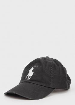 Черная кепка Polo Ralph Lauren с логотипом, фото