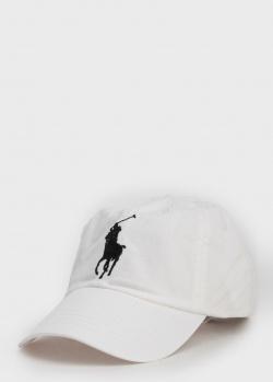 Белая кепка Polo Ralph Lauren с брендовой вышивкой, фото
