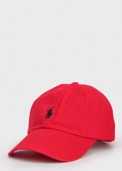 Красная кепка Polo Ralph Lauren с вышивкой-лого, фото