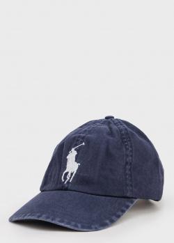 Детская кепка Polo Ralph Lauren с брендовым рисунком, фото