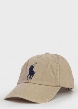 Детская кепка Polo Ralph Lauren бежевого цвета, фото
