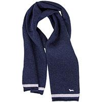Мужской шарф Harmont&Blaine синего цвета из кашемира, фото