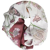 Бордовый платок Fattorseta с цветочным принтом, фото