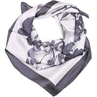 Серый шелковый платок Fattorseta с принтом, фото