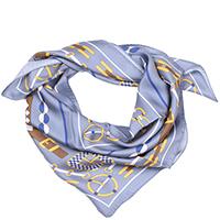 Платок Fattorseta пепельно-голубого цвета с принтом, фото