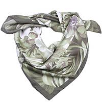 Шелковый платок Fattorseta оливкового цвета, фото