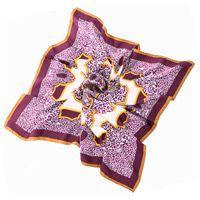 Шелковый платок Fattorseta с растительным принтом, фото