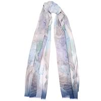 Шелковый платок Fattorseta голубого цвета с принтом, фото