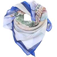 Синий платок Fattorseta с принтом города, фото