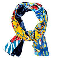 Двухсторонний шарф D.OLYA by Olga Dvoryanskaya Savanna из шелка и бархата, фото