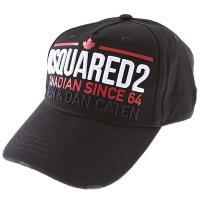 Кепка Dsquared с брендовой надписью в черном цвете, фото