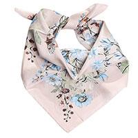 Шелковый платок Fattorseta с цветочным узором серого цвета, фото