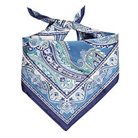 Платок Fattorseta из шелка синего цвета, фото
