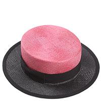 Шляпа из сизаля Shapelie с черным полем, фото