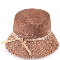 Шляпа женская Shapelie Капор с вуалью и лентой, фото