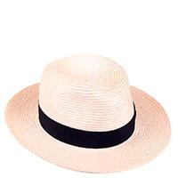 Соломенная шляпа Shapelie Федора с контрастной вставкой, фото