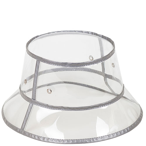 Прозрачная шляпа Shapelie с серой отделкой, фото