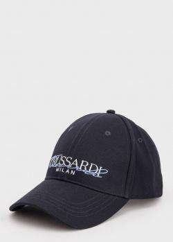 Черная кепка Trussardi с фирменной вышивкой, фото