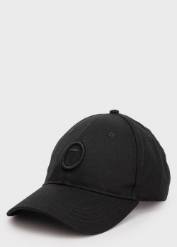 Черная кепка Trussardi с логотипом, фото