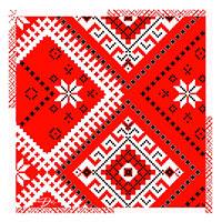 Красная шелковая лента D.OLYA by Olga Dvoryanskaya с узором, фото