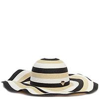 Шляпа Twin-Set с бежевыми и черными полосами, фото